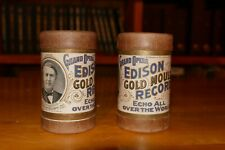 2 Edison Grand Opera 2-Minute Cylinders in cases - Van Rooy & Rappold