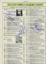 THE BEE GEES Signed By All 3  PSA/DNA  RECORD WORLD #1 ALBUM CHART 5/27/78