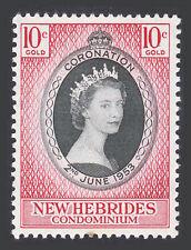 BRITISH NEW HEBRIDES SCOTT #77 CORONATION ISSUE 1953 MNH-OG (SPOT)
