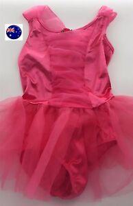 Girl Kid Child Pink Ballet Ballerina Dance Skate Dress Geometric Leotard Skirt