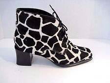 Franco Sarto Cowhide Lace Up Ankle Boots Size 8 1/2 M