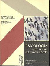 HARLOW Harry, Psicologia come scienza del comportamento