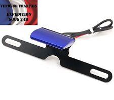 Eclairage de plaque LED alu support plaque haut de gamme, bleu VENDEUR FRANCAIS