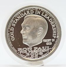 2008 Ron Paul NORFED Gold Standard 1 oz 999 Silver Round Medal - JD161