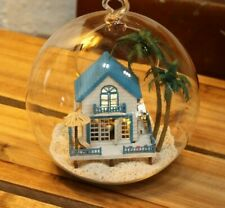 DIY  Miniature Dollhouse in Mini Glass Ball,  (B-002), Romantic Aegean sea