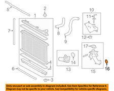 TOYOTA OEM Radiator-Water Outlet Gasket 1632531010