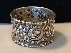 Antique William Hutton & Sons Ltd Sterling Silver Napkin Ring  Sheffield 1923