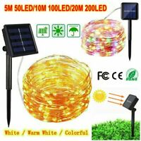 100/200 LED Solar Power String Lights Waterproof Garden Fairy Outdoor Party Lamp