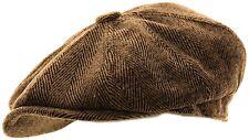 Mens Herringbone Baker Boy Caps Newsboy Hat Country Style Gatsby / Flat Cap