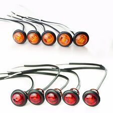 "Trailer 3/4"" Lights LED 1 Diode (5) AMBER & (5) RED Clearance, FREE SHIPPING"