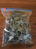 Toy Army Soldiers Job Lot Bundle With 1 Tank/Car