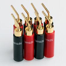 8PCS 2MM Nakamichi Audio Speaker Cable Pin Plug Banana Connector Screw For Hifi
