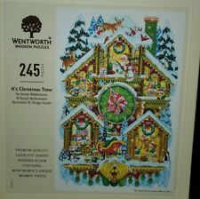 Wentworth Wooden Puzzles RARE It's Christmas Time by Randy Wollenmann 245 Pieces