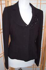 ALBERT NIPON evening beaded floral embroidered dress Suit Jacket Blazer sz 6