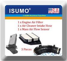 3Pcs Mass Air Flow Sensor,Air Intake Hose & Air Filter Fits:Accord 08-12 L4 2.4L