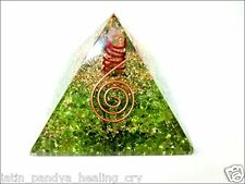 Jet Peridot Orgone Pyramid 60 mm Free Jet International Crystal Therapy Booklet