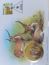 Numisbrief 30 Jahre WWF 1995 Botswana  Roter Litschi