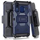 For Samsung Galaxy A20 A30 A50 Heavy Duty Hybrid Holster Case BeltClip Kickstand