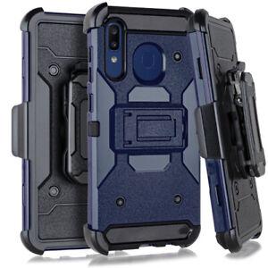 Samsung Galaxy A20 A30 A50 Heavy Duty Hybrid Holster Case Belt Clip w/ Kickstand