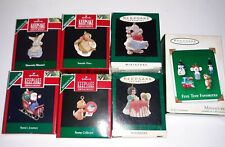 Hallmark Miniature Keepsake Ornaments Lot Of 6 + Five Tiny Favorites. Euc