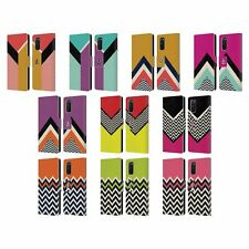 HEAD CASE DESIGNS COLOUR BLOCK CHEVRON LEATHER BOOK CASE FOR SAMSUNG PHONES 1