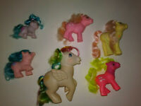 My Little Pony Vintage G1 Very Flawed Lot of 6 ~Please Read~  Restore or Project