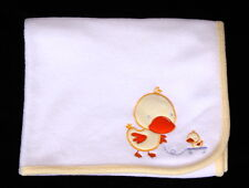 Carter's Child of Mine White Fleece Duck Baby Blanket EUC