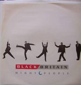"BLACK BRITAIN ~ Night People ~ 12"" Single PS"