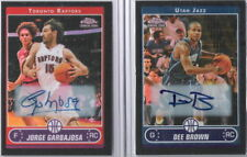 Dee Brown 2006-07 Topps Chrome Rookie Black Refractor Auto graph RC