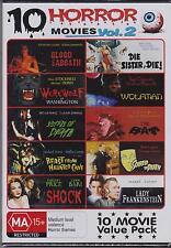 10 HORROR MOVIES VOL 2 on 3 DVD's - WOLFMAN - LADY FRANKENSTEIN - DIE SISTER DIE