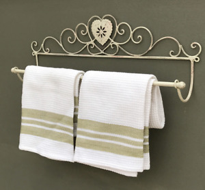 Bathroom Toilet Wall Mounted Hanging Towel Holder Rail Rack Shabby Chic Style