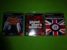 EMPTY Replacement Cases! Grand Theft Auto 1 + 2 + London PS1 PS2 PS3 Trilogy