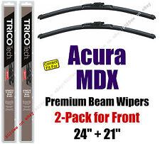 Wipers 2-Pack Premium Beam Wiper Blades - fit 2001-2006 Acura MDX - 19240/19210