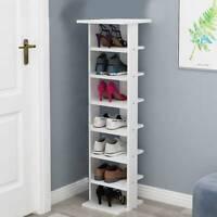 Kids Shoe Cabinet Wooden Storage 7 Tiers Cupboard Sideboard Footwear Rack Stand
