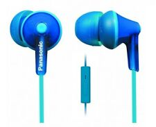 Panasonic RPTCM125A ErgoFit In-Ear Headphones with microphone and remote, Blue