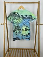 VTG Hard Rock Cafe Mermaid All Over Print North Shore Hawaii World Cup T-Shirt S