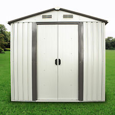6'x4' Outdoor Utility Tool Storage Shed Backyard Garden Garage Kit Building New