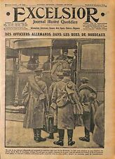 Officiers Feldgrauen Prisonniers Deutsches Heer Tramway rue de Bordeaux WWI 1916