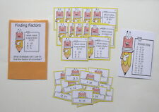 Teacher Made Math Center Learning Resource Game Finding Factors