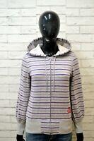 Maglione ADIDAS Felpa Donna S Pullover Sweater Cardigan A Righe Cotone Woman