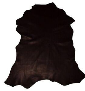 Classic Thin Black Grain Goatskin Leather Hide Bookbinding Bible Garments
