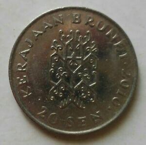 Brunei 3rd Series 20 sen coin 2010