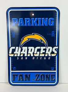 NFL San Diego Chargers Fan Zone Plastic Parking Sign Free Shipping