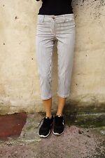 CONTE DI FIRENZE pantaloni a righe Pantaloni Pirata Jeans Stretch Straight IT42 UK10
