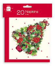20 Christmas Tree Paper Napkins Serviettes Party Buffet Dinner Tableware GP402