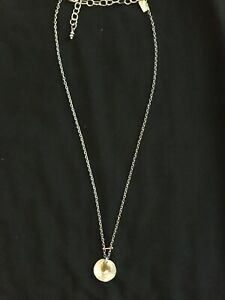 """SUNDANCE two moons 18"""" sterling silver/gold necklace"""
