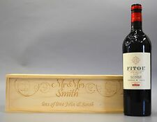 Personalised Mr & Mrs - Wooden Wine / Spirit / Champagne Box