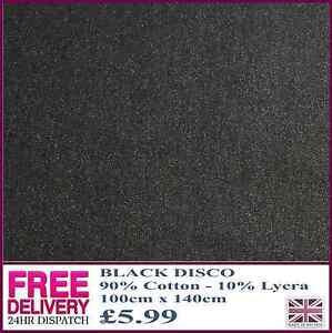 New Disco Denim Polyester & Lycra Fabric Material Craft Quilting 100cm x 140cm
