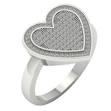 Gold Right Hand Wedding Ring 15.25Mm 0.40Carat Si1 H Genuine Round Diamond White