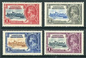 British 1935 KGV Silver Jubilee Somaliland Sc #77-80 Mint Non Hinged Y115